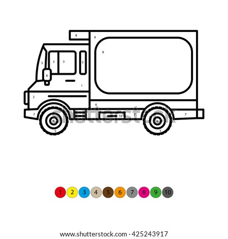 Illustration Of Coloring Book For Kids Truck Transportation Childrens Lessons Drawing