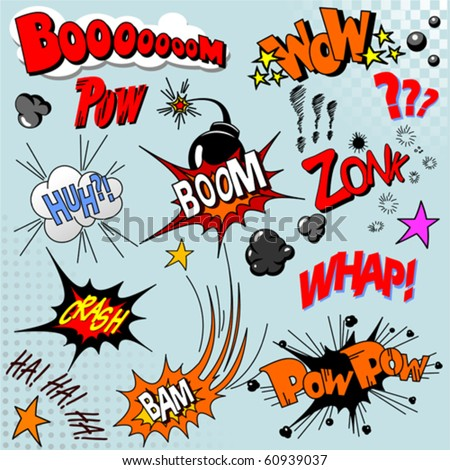 Illustration of comic book explosion for your design - stock vector