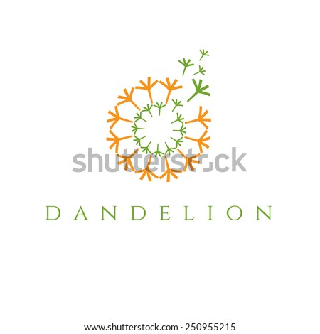Illustration of concept dandelion. Vector - stock vector