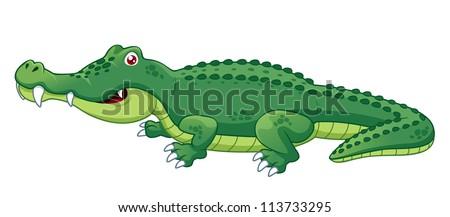 illustration of crocodile vector - stock vector