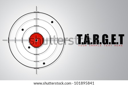 illustration of crosshair sign showing target concept - stock vector