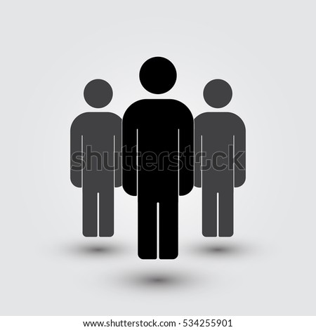 Standing crowd silhouette - photo#52