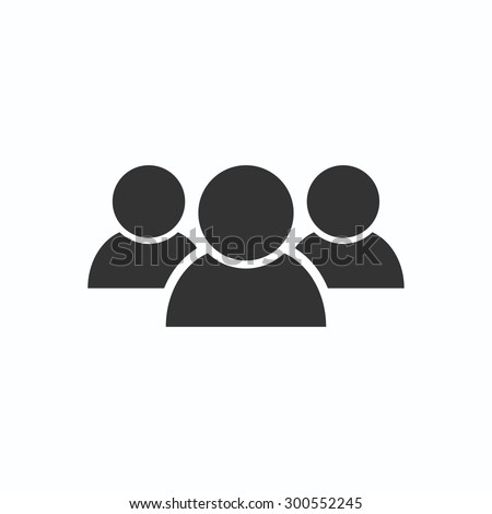 Illustration of crowd of people . vector icon 10 EPS - stock vector
