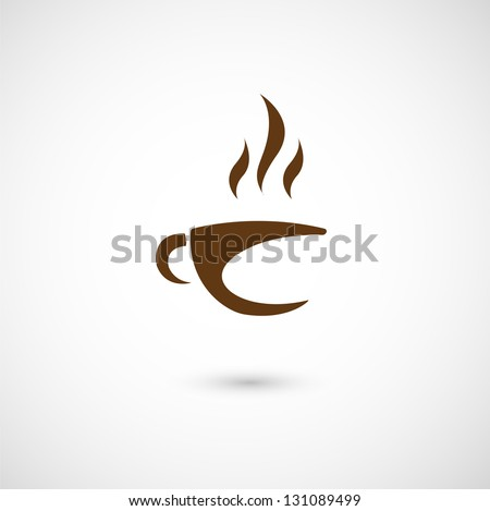 illustration of cup of coffee icon - stock vector