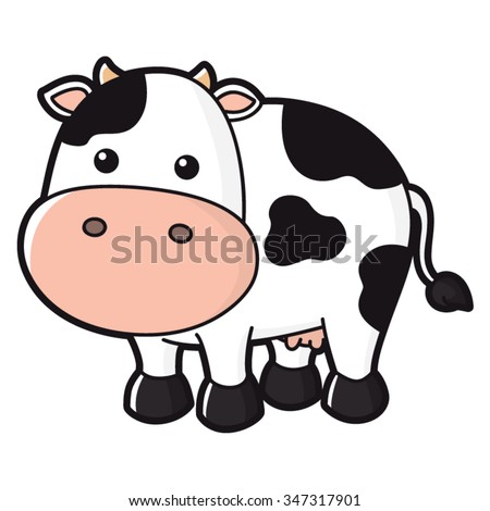 Illustration of cute cow