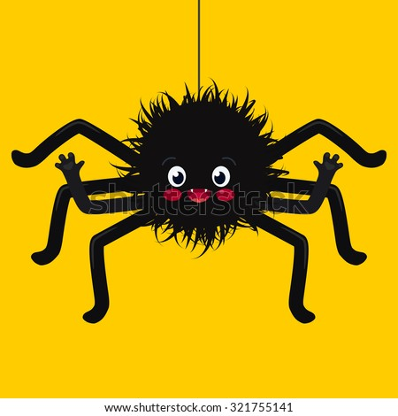 illustration of cute spider - stock vector