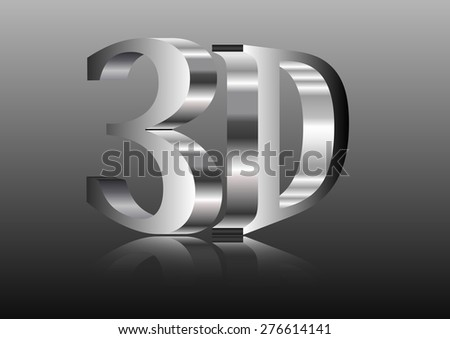 illustration of 3D word written metal letters - stock vector