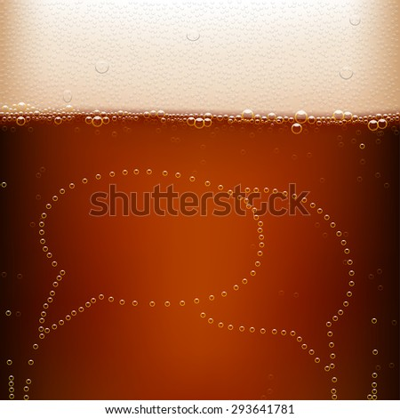 illustration of dark beer background with labels - stock vector