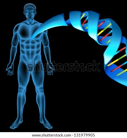Illustration of Deoxyribonucleic acid structure - stock vector
