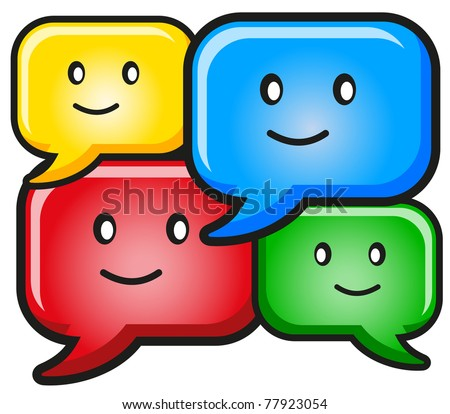 illustration of dialog text - stock vector