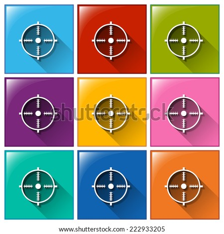 Illustration of different color target icons