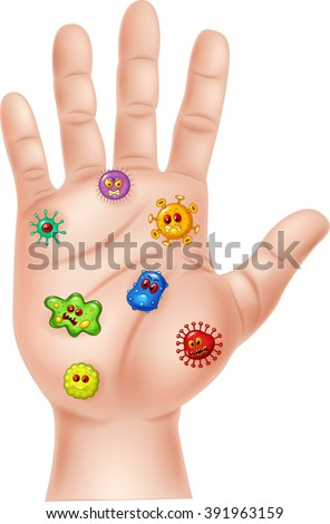 Illustration of Dirty hand on white background - stock vector