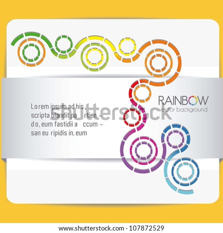 illustration of discontinuous circles isolated, vector illustration - stock vector