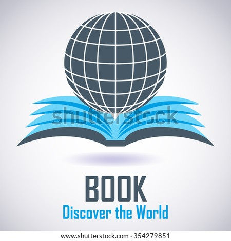 Illustration of Download ebook. E-book icon. Vector - stock vector