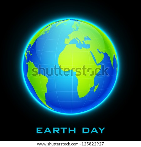 illustration of earth on abstract glowing background