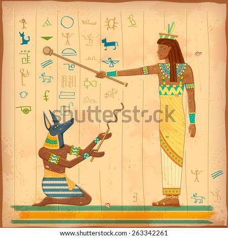 Illustration Egyptian Art Human Engraved On Stock Vector HD (Royalty ...
