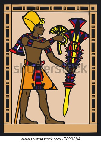 Illustration of Egyptian Silouette - Vector