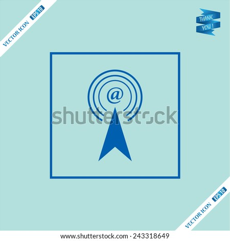 illustration of email - stock vector
