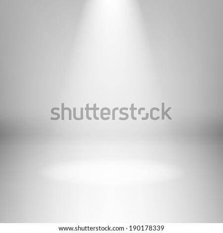 Illustration of empty light room with highlight - stock vector
