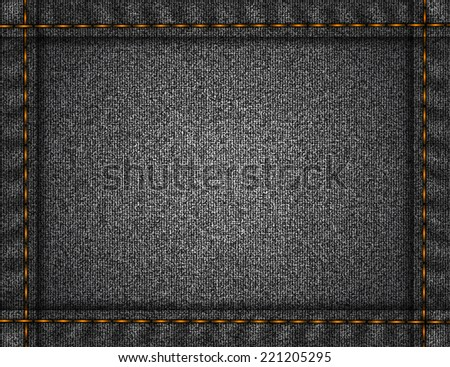Illustration of fabric texture with frame from stitches