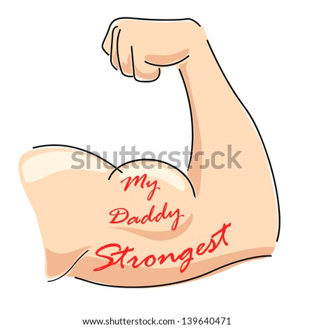 illustration of Father's Day background with My Daddy Strongest message - stock vector