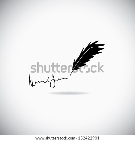 Illustration of feather  - stock vector