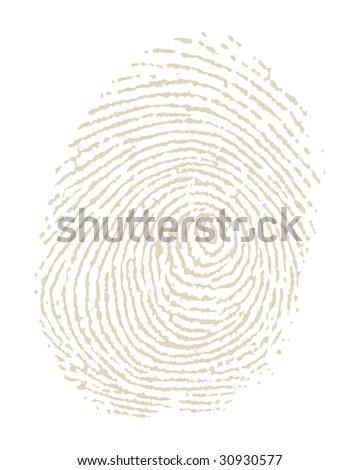 Illustration of fingerprint on white background - stock vector