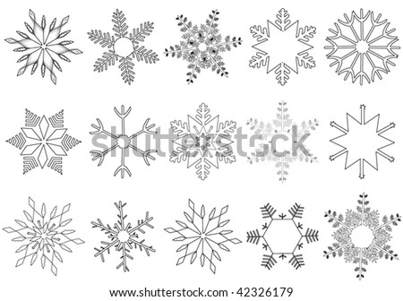 Illustration of flakes - stock vector