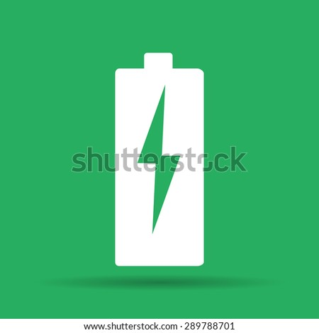 Illustration of Flat Battery Sign Vector Charging Energy Symbol Background - stock vector