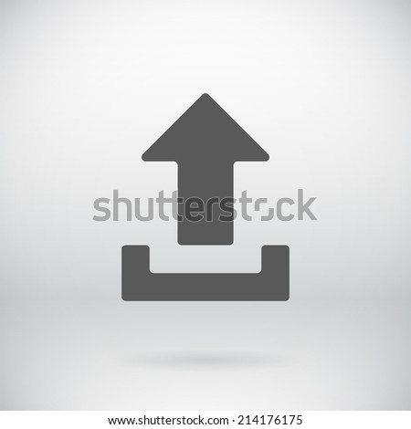 Illustration of Flat Download Upload Icon Vector Load Symbol Button Background - stock vector