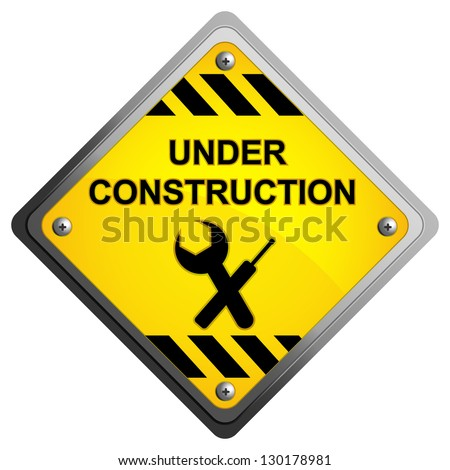 illustration of floral under construction icon on isolated background