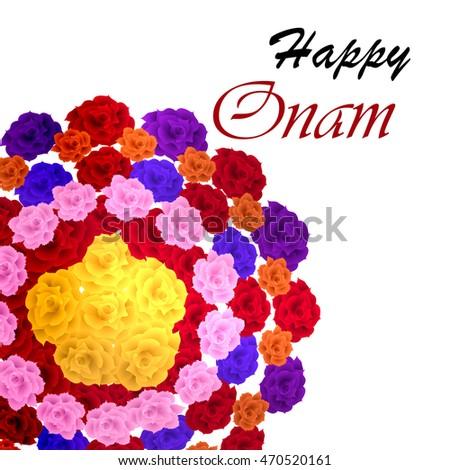 Of Flower Rangoli Decoration For Onam