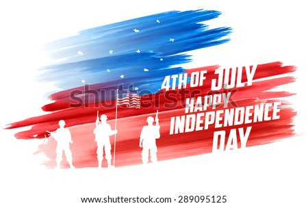 illustration of Fourth of July background for Happy Independence Day of America - stock vector