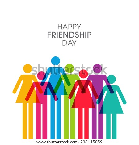 Illustration of friendship day.