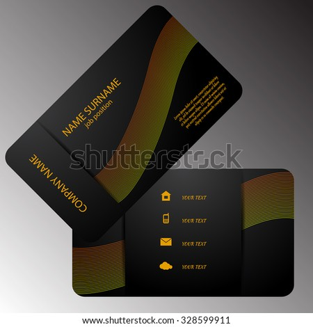 illustration of front and back of corporate business card eps 10 - stock vector