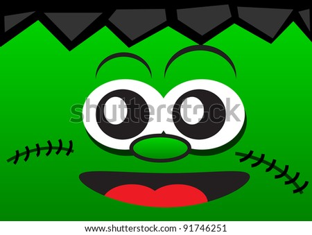 illustration of funny face wallpaper - stock vector