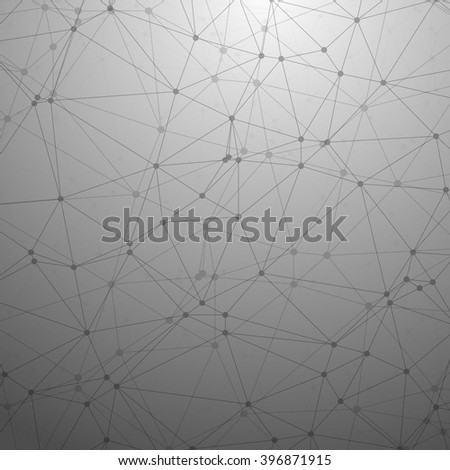 Illustration of Futuristic Wireframe Vector Background. Polygonal Network Texture Template - stock vector