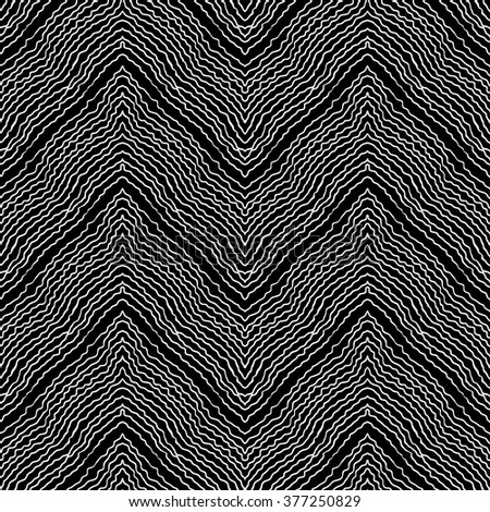 illustration of geometric seamless pattern without gradient - stock vector