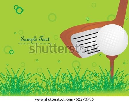 illustration of golf background, sports illustration - stock vector