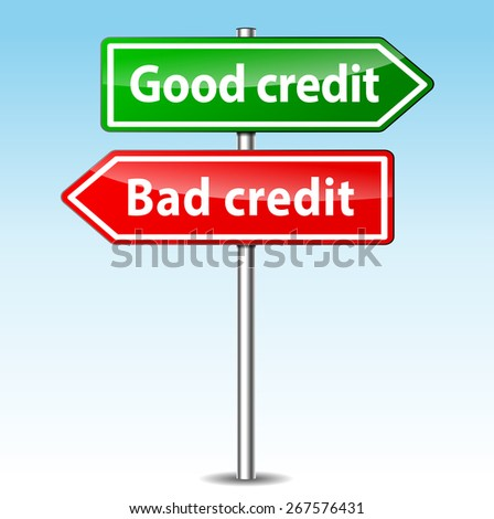 illustration of good and bad credit directions