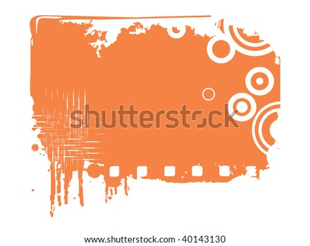 illustration of grungy frame with circle - stock vector