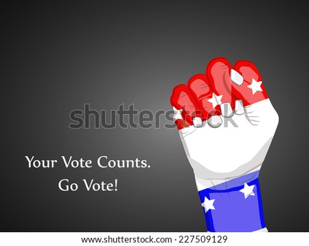 Illustration of Hand for Election Day - stock vector