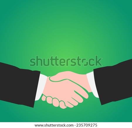Illustration of Handshake with Copy Space - stock vector