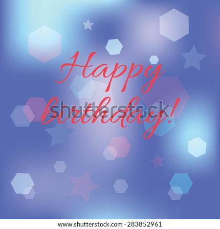 Illustration of Happy Birthday Typography background - stock vector
