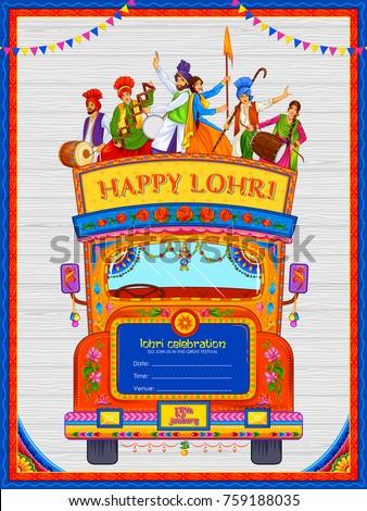 Punjabi culture stock images royalty free images vectors illustration of happy lohri holiday background for punjabi festival malvernweather Choice Image
