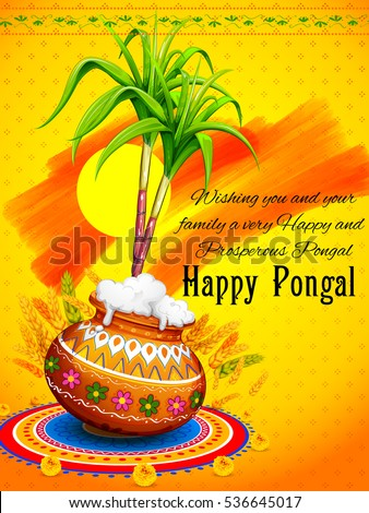 Illustration happy pongal greeting background stock vector 2018 illustration of happy pongal greeting background m4hsunfo