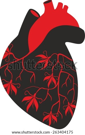 illustration of heart - stock vector