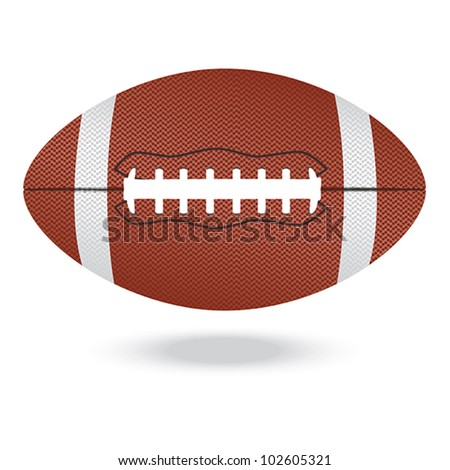 illustration of highly rendered football, isolated in white background.