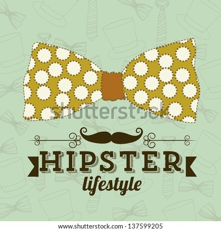 Illustration of hipster culture or father's day, vector illustration - stock vector