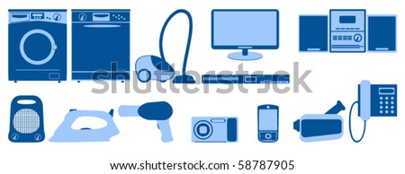 Illustration of home appliance icons